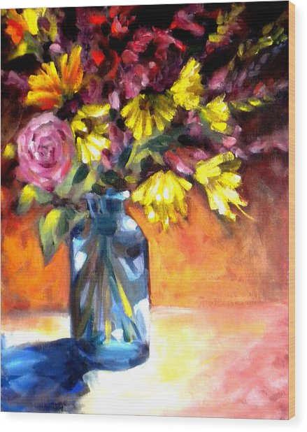 Summer Bouquet Wood Print by Paula Strother