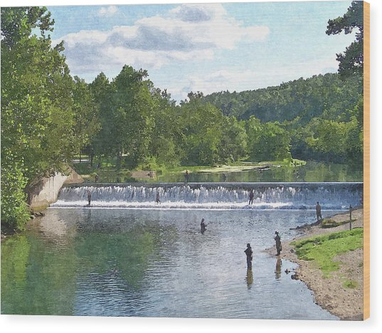 Summer By The Spillway Wood Print