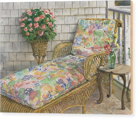 Summer Chaise Wood Print
