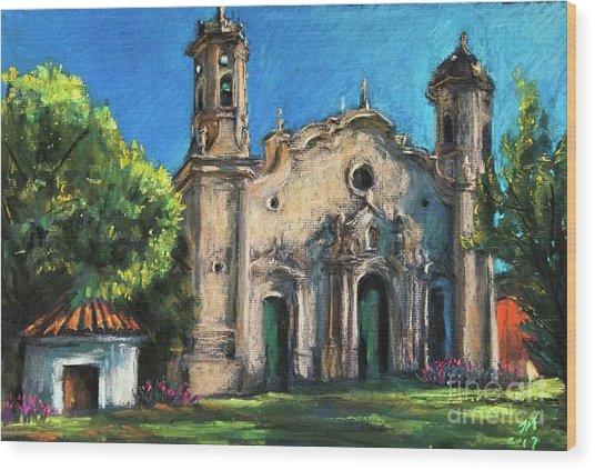 Summer Church Wood Print