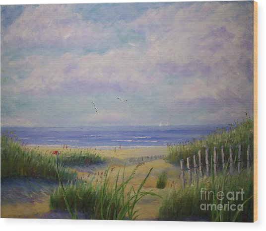 Summer Day At The Beach Wood Print
