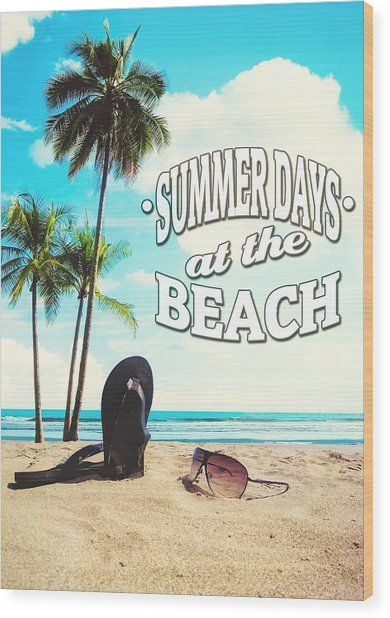Summer Days Wood Print