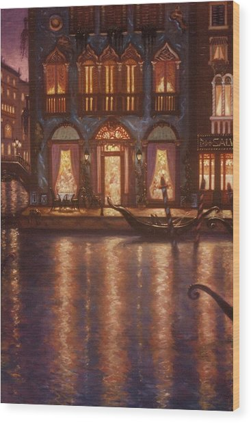 Summer Evening In Venice Wood Print by Scott Jones