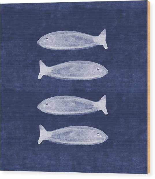 Summer Fish- Art By Linda Woods Wood Print