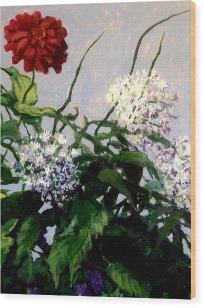 Summer Flowers 1 Wood Print