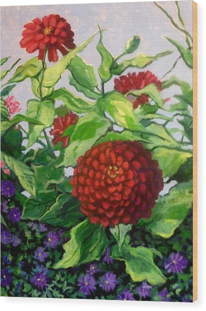 Summer Flowers 3 Wood Print