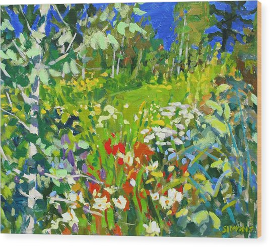 Summer Flowers Wood Print by Brian Simons
