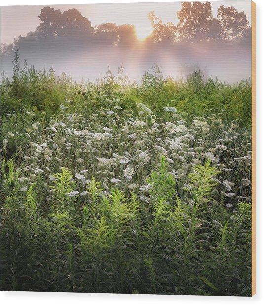 Summer Fog Wood Print