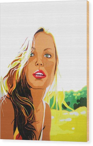 Summer Girl Wood Print by Heli Luukkanen