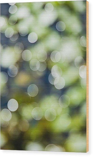 Summer Glitter Wood Print