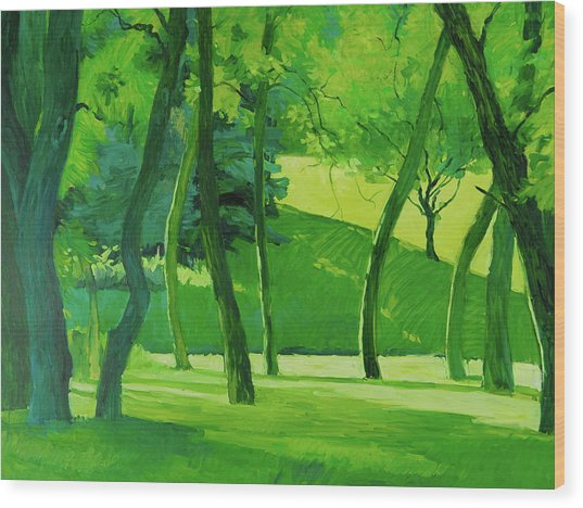 Summer Green Wood Print