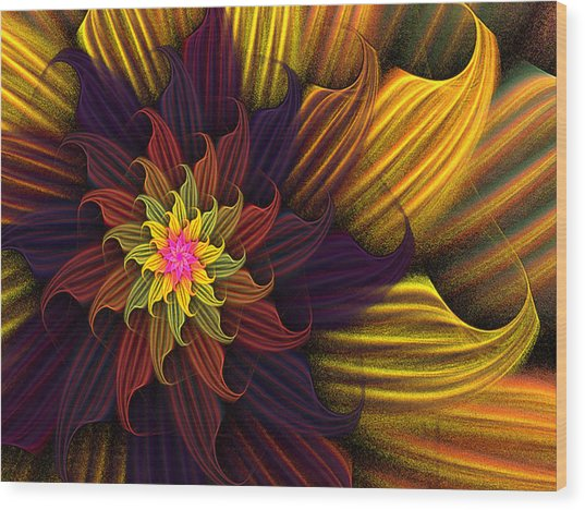 Summer Harvest Flower Wood Print