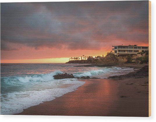 Summer Heat Laguna Beach Wood Print by Seascaping Photography