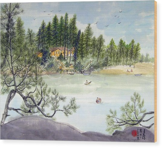 Summer In Canada Wood Print by Ying Wong