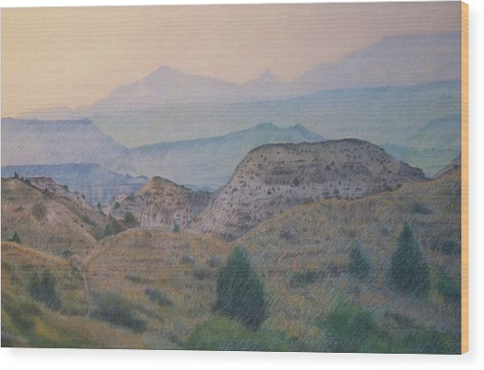 Summer In The Badlands Wood Print