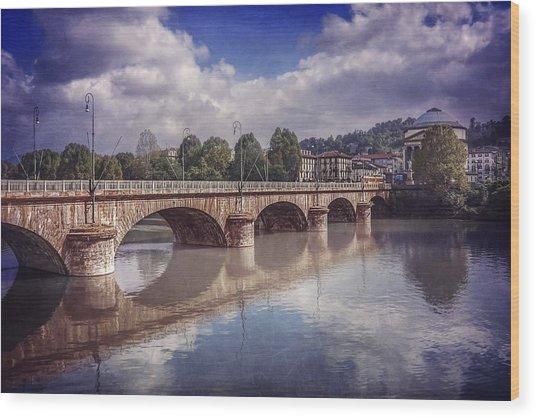 Summer In Turin  Wood Print