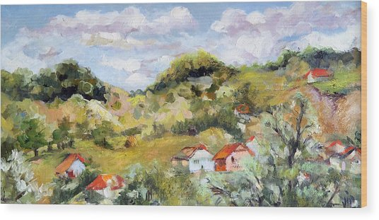 Summer Landscape Wood Print