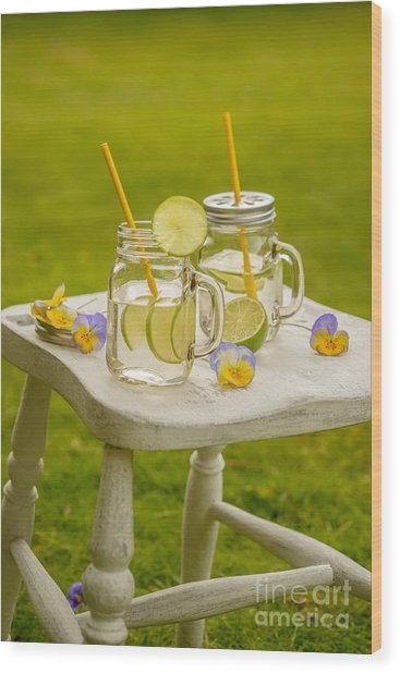 Summer Lemonade Wood Print