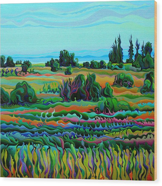 Summer Meadow Dance Wood Print