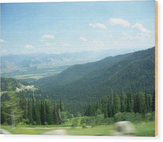 Summer Mountain Wood Print