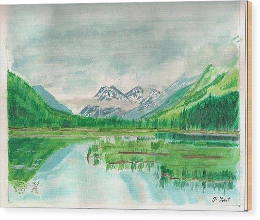 Summer Of Alaska Wood Print by Jashobeam Forest