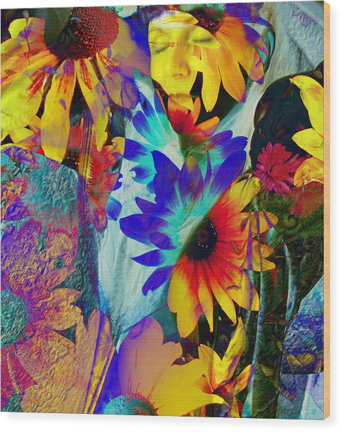 Summer Of Love Wood Print by Patric Carter