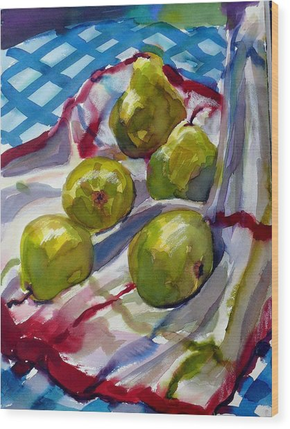 Summer Pears Wood Print by Doranne Alden