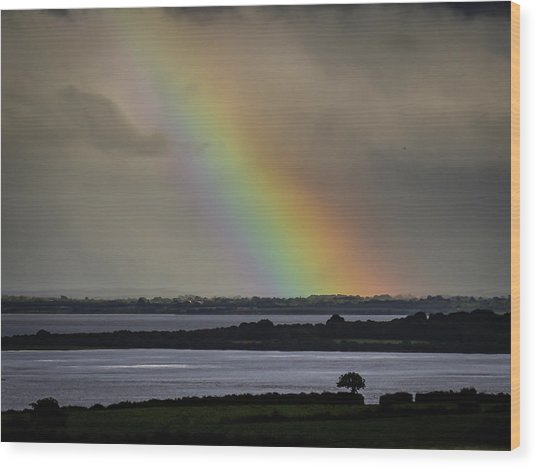 Wood Print featuring the photograph Summer Rainbow Over Shannon Estuary by James Truett