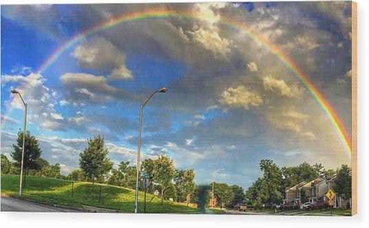 Summer Rainbow Wood Print