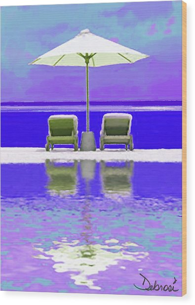 Summer Reflections Wood Print by Deborah Rosier