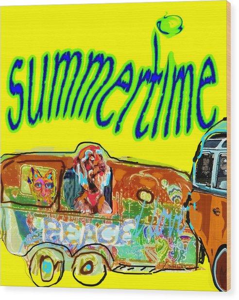 Summer Roadtrips Fun  Wood Print