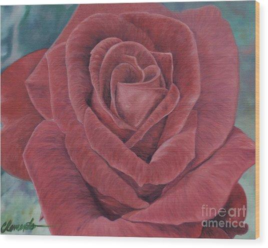 Summer Rose Wood Print by Barbara Barber
