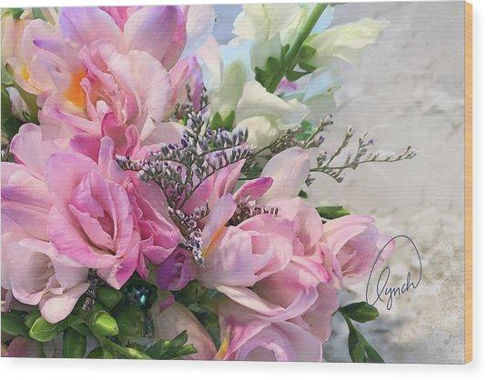 Summer Roses 3 Wood Print
