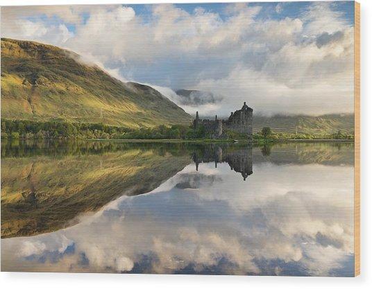Summer Runrise At Loch Awe Wood Print