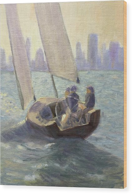 Summer Sail Wood Print
