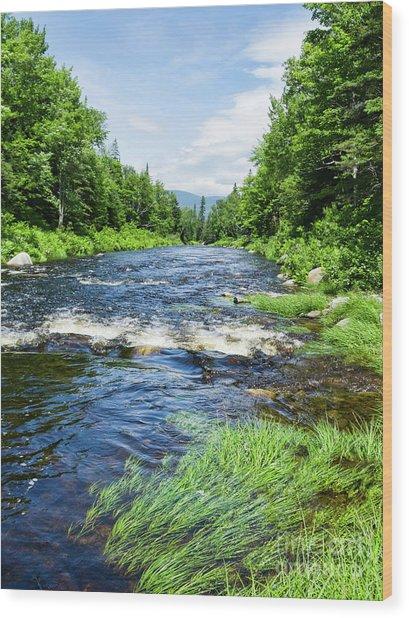 Summer Scene Rangeley Maine  -70742 Wood Print