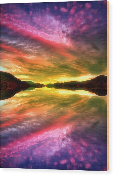 Summer Skies At Skaha Wood Print