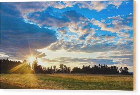 Summer Skies Wood Print