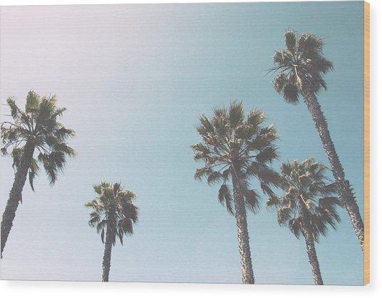 Summer Sky- By Linda Woods Wood Print