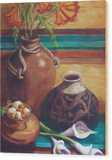 Summer Still Life Wood Print by Candy Mayer
