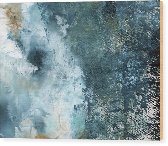 Summer Storm- Abstract Art By Linda Woods Wood Print