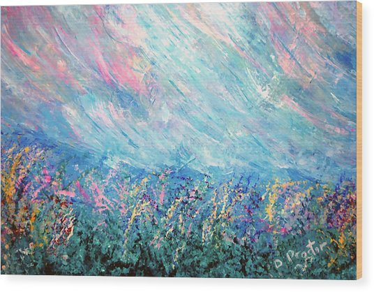 Summer Storm Wood Print by Donna Proctor