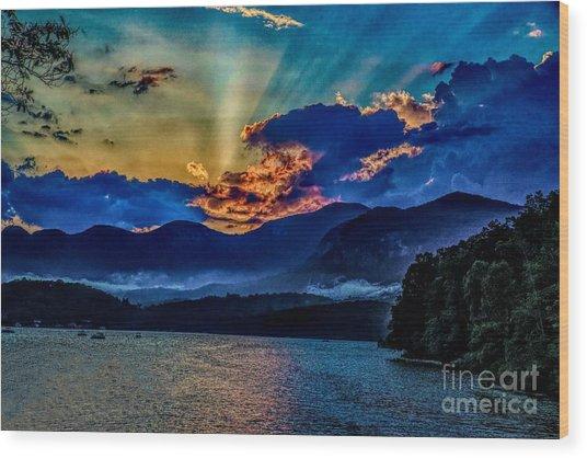 Summer Sundown Wood Print