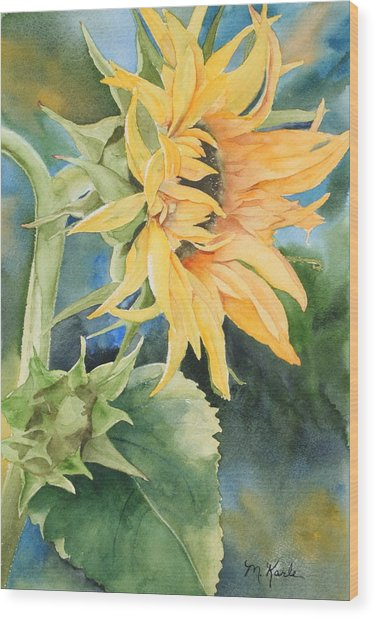 Summer Sunflower Wood Print