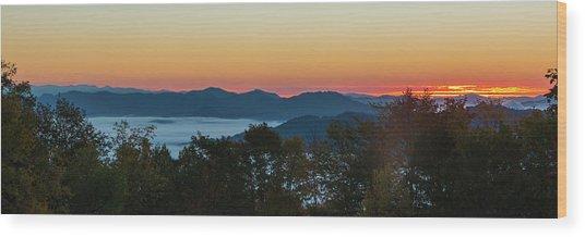 Summer Sunrise - Almost Dawn Wood Print