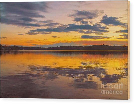 Summer Sunset Wood Print