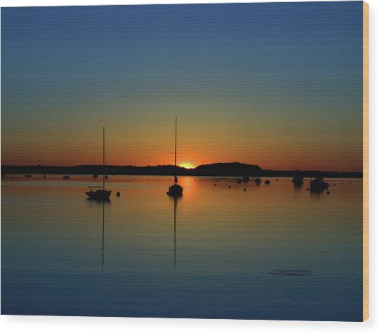 Summer Sunset Monument Beach Wood Print