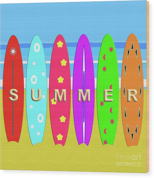 Summer Surf Wood Print