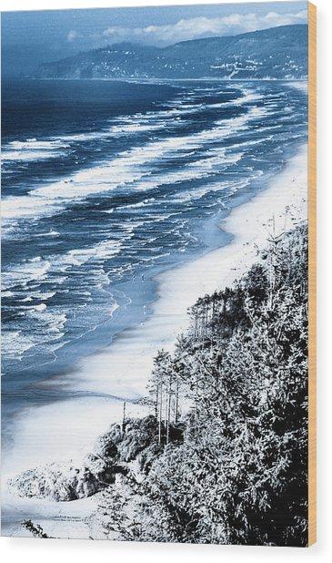 Summer Waves Cape Lookout Oregon Coast Wood Print