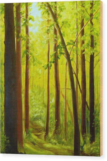 Summer Woods Wood Print